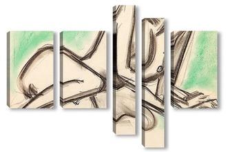 Модульная картина Голая XIII