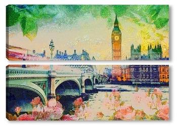 Модульная картина Лондон летом