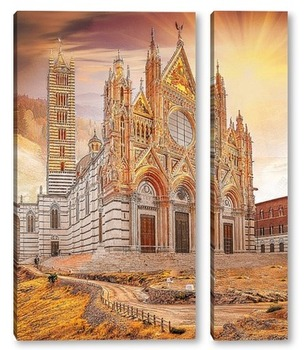 Модульная картина Собор Сиены. Тоскана