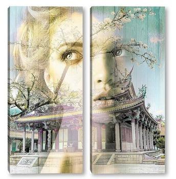 Модульная картина Восточный храм