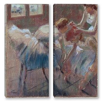 Модульная картина Три танцовщицы готовятся к танцам