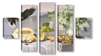 Модульная картина Десерт с орланом