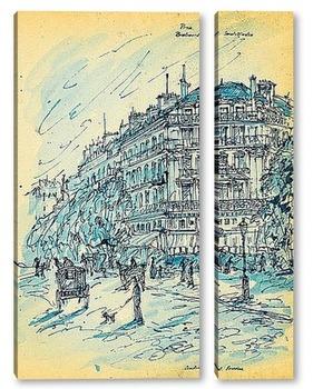 Модульная картина Бульвар Сен-Мартен