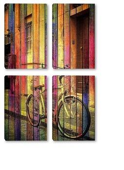 Модульная картина Ретро велосипед