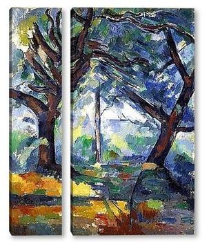 Модульная картина Большие деревья, 1904