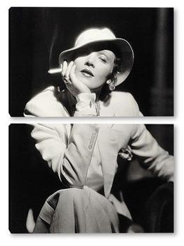 Модульная картина Немецкая актрисса Марлен Дитрих