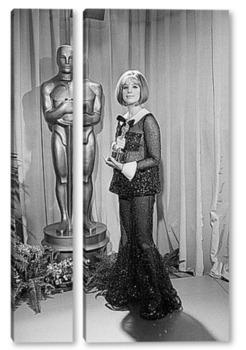 Модульная картина Барбара Стрейзанд с Оскаром