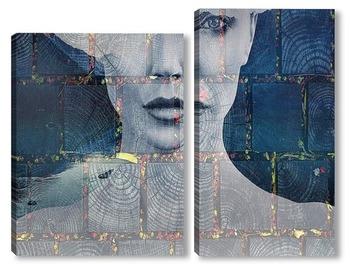 Модульная картина Портрет девушки