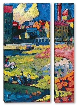 Модульная картина Пригород Мюнхена