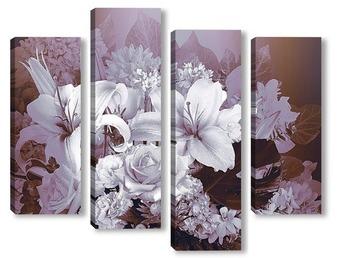 Модульная картина Аромат цветов