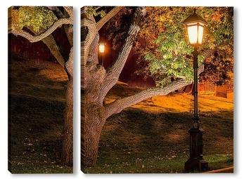 Модульная картина Александровский сад,фонарь.