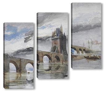Модульная картина Мост на Рейне