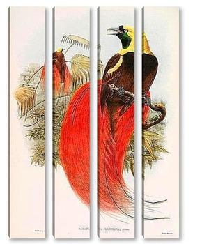 Модульная картина Райские птицы