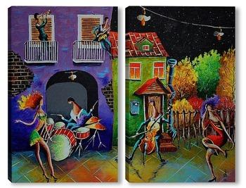 Модульная картина Осень танцует