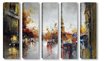 Модульная картина Питерский дождь