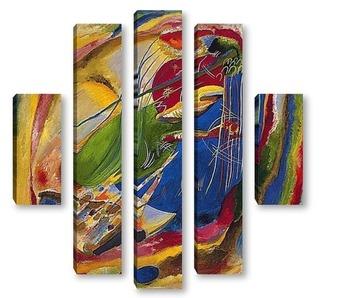 Модульная картина Картина с тремя пятнами