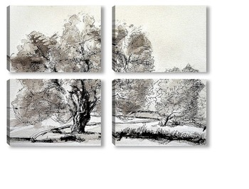 Модульная картина Оливковое дерево
