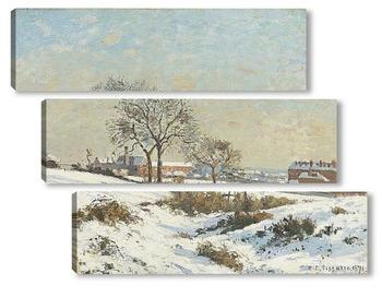 Модульная картина Снежный пейзаж в Южной Норворд