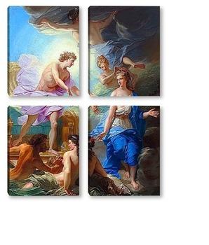 Модульная картина Аполлон и Фетида
