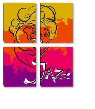 Модульная картина Джаз.