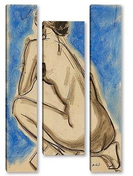 Модульная картина Девушка на коленях