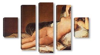 Модульная картина Обнаженная Маха. 1880
