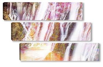Модульная картина Горные водопады