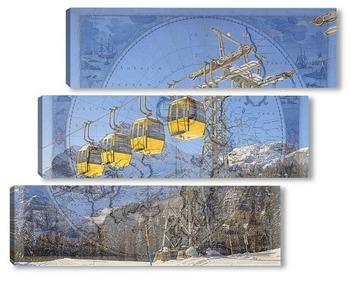 Модульная картина Подьем в горы