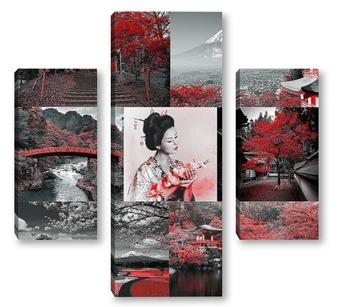 Модульная картина Коллаж Япония