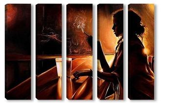Модульная картина сюжет в баре