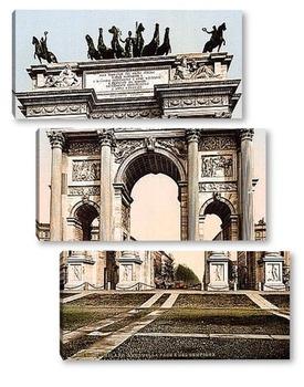 Модульная картина Арка Мира, Милан, Италия