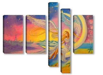 Модульная картина Ангел благополучия
