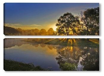 Модульная картина Солнечное утро