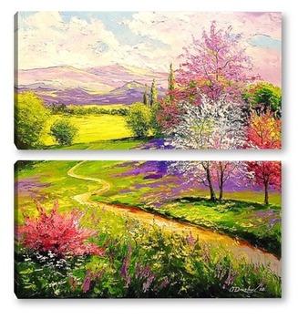 Модульная картина Весна,весна