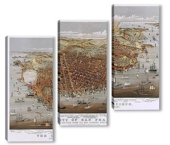 Модульная картина Город Сан Франциско, панорама