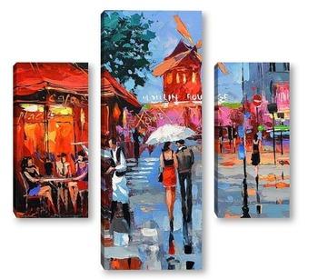 Модульная картина Парижский вечер