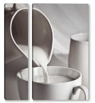 Модульная картина Молоко