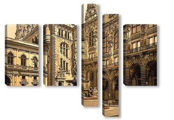 Модульная картина Гамбург, Германия.1890-1900 гг