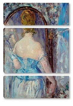 Модульная картина Мане перед зеркалом