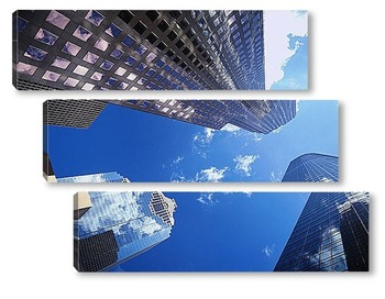 Модульная картина Взгляд снизу на центр Хьюстона.