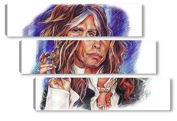 """Модульная картина Steven Tyler """"Aerosmith"""""""