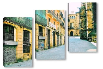 Модульная картина Старый город