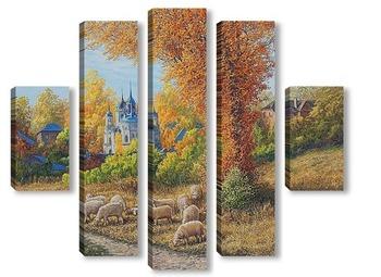 Модульная картина Сельский пейзаж