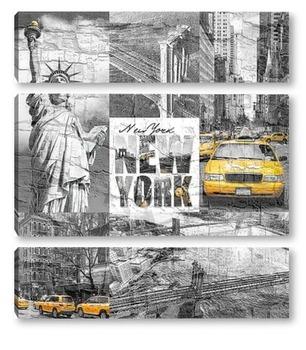 Модульная картина Каменные джунгли Нью-Йорка