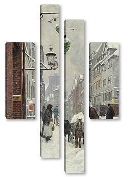 Модульная картина Зимний день в Krystalgade