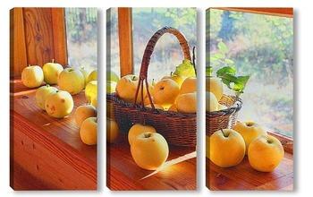 Модульная картина Антоновские яблоки