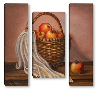 Модульная картина Урожай яблок