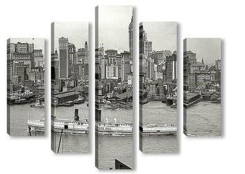 Модульная картина Нью Йорк, 20 годы
