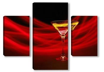 Модульная картина Красный коктейль