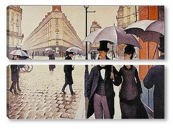 Модульная картина Парижская улица.1877